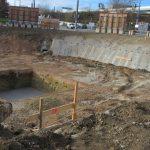 Litfassstraße - Baugrube - Sicherung der Baugrube mit Spritzbeton