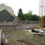 Endressstraße 17 - Sicherung der Baugrube mit aufgelöster Bohrpfahlwand