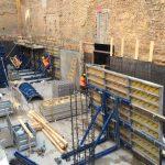 Favoritenstraße - Bewehrung und Schalung der Kelleraußenwände