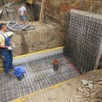 Umbau im Bestand - Errichtung einer Stützmauer zum Nachbargrundstück
