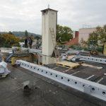 Dachgeschoßausbau - Herstellung der obersten Geschoßdecke mit Verbundträgern (Peikko Deltabeam)