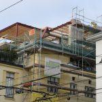 Dachgeschoßausbau - Ansicht einer Baustelle mit Dachgeschoßausbau