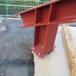 Dachgeschoßausbau - Fußpunkt und biegesteife Ecke eine Rahmens