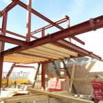 Dachgeschoßausbau - Neue Dachkonstruktion - Stahlbauknoten