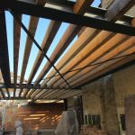 Dachgeschoßausbau - Neue Dachkonstruktion - Kreuzverbände aus Flachstahl