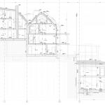 Hinterbrühl - Schnitt durch Wohnhäuser und Garage