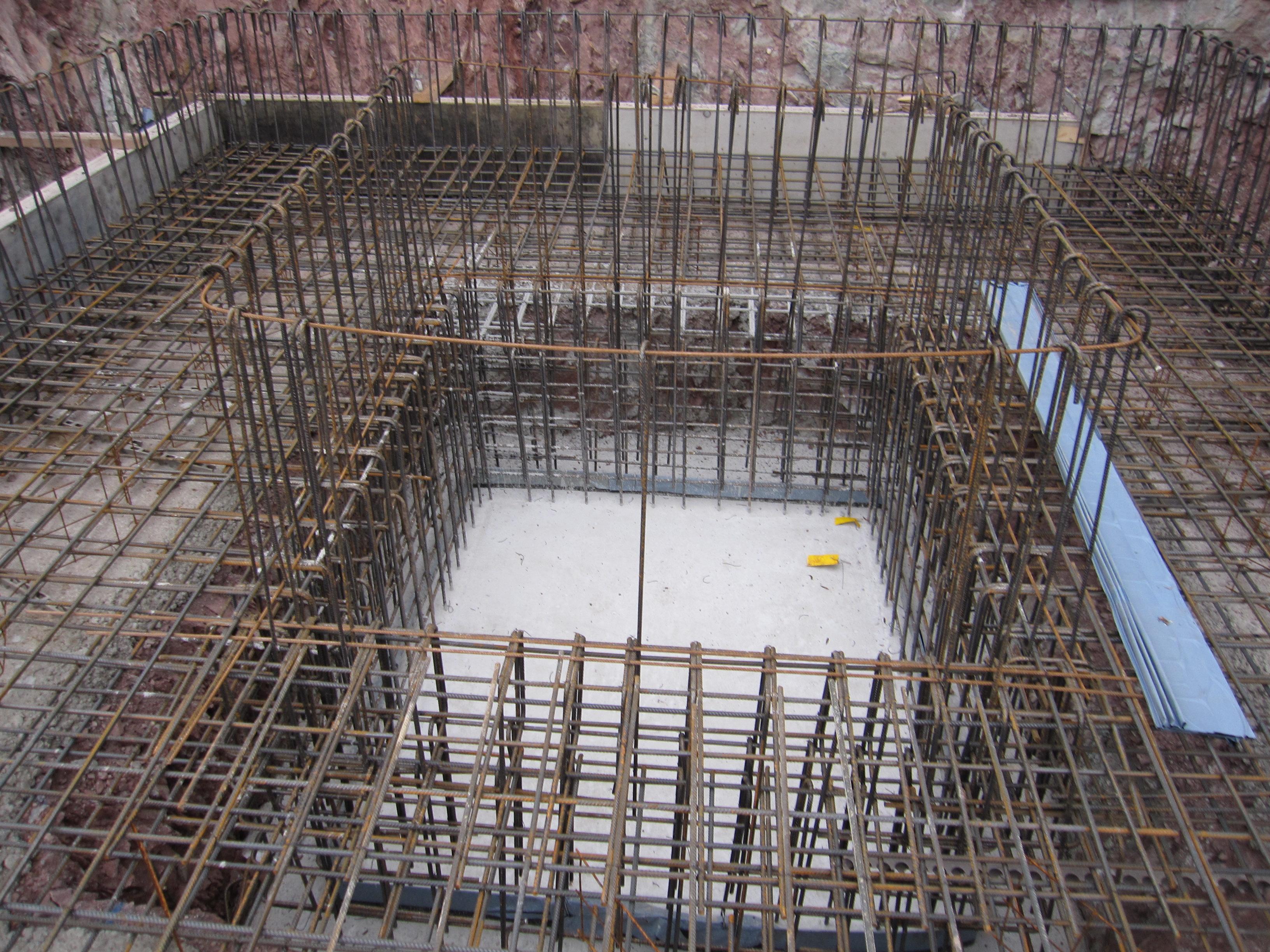 Hervorragend Hinterbrühl - Bewehrung Bodenplatte und Aufzugschachtgrube - Dipl CE58