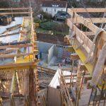Hinterbrühl - Schalung und Bewehrung der Terrassen bzw. Balkonplatten