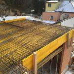 Gablitz - Bewehrung und Schalung Decke über EG, oberes Haus